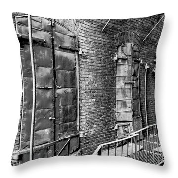 Fire Escape And Doors Throw Pillow
