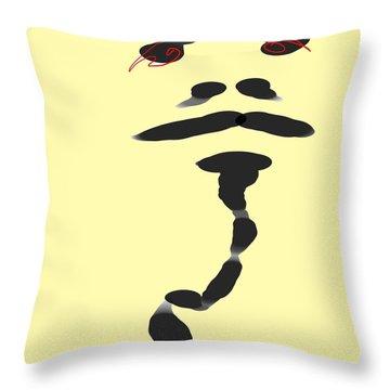 Fire Eyes Throw Pillow