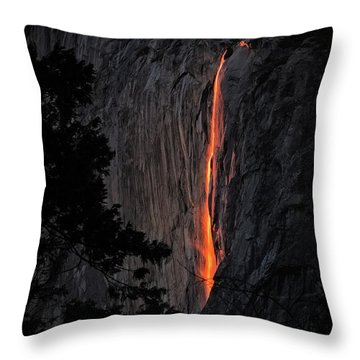 Fire Fall Throw Pillow