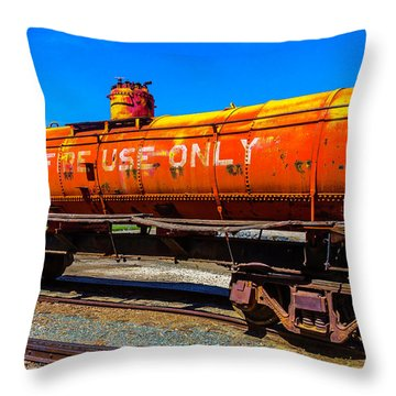Fire Fighting Tanker Throw Pillow