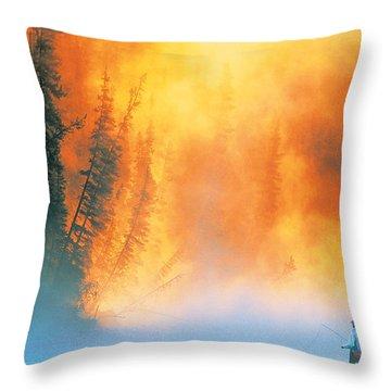 Fire Fly Fishing Throw Pillow by Darwin Wiggett