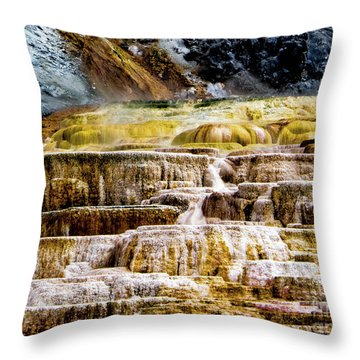 Hot Spring Throw Pillow