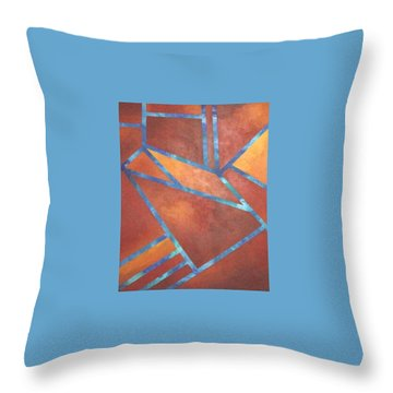 Throw Pillow featuring the painting Fire From The Sky by Bernard Goodman