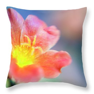 Throw Pillow featuring the photograph Fire From Within by Christi Kraft