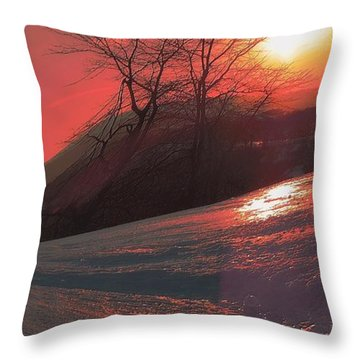 Fire Frost Throw Pillow