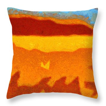 Fire Hill Throw Pillow
