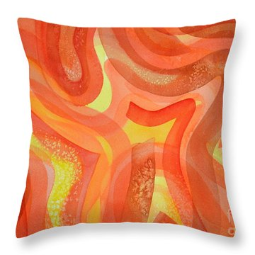 Fire Throw Pillow by Holly York