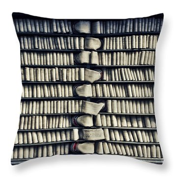 Fire Hose Throw Pillow by Jutta Maria Pusl