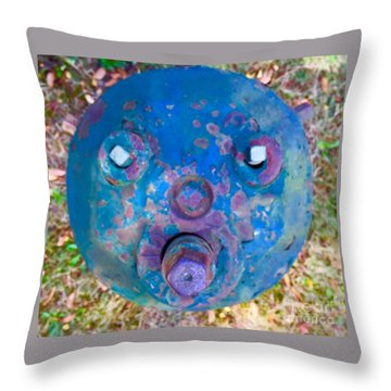 Fire Hydrant # 11 Throw Pillow
