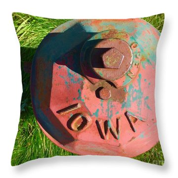 Fire Hydrant #7 Throw Pillow