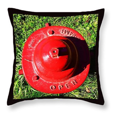 Fire Hydrant #8 Throw Pillow