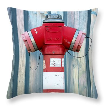 Fire Hydrant Steel Wall Throw Pillow
