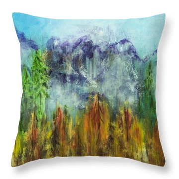 Fire In Glacier Park Throw Pillow