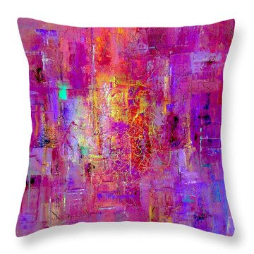 Fire In My Heart Abstract Throw Pillow