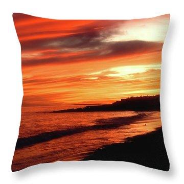 Fire In Sky Throw Pillow by Joann Vitali