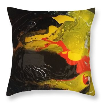 Fire In Soot Throw Pillow