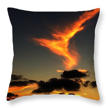 Early Evening Over Paros Island Throw Pillow