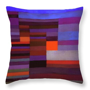 Fire In The Evening Throw Pillow
