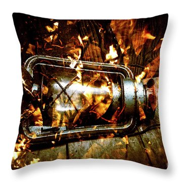 Fire In The Hen House Throw Pillow