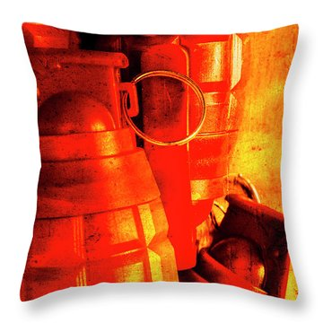 Fire In The Hole Throw Pillow