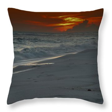 Throw Pillow featuring the photograph Fire In The Horizon by Renee Hardison