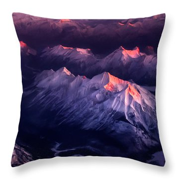 Fire In Ice Throw Pillow