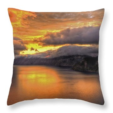 Fire In The Lake #1 Throw Pillow
