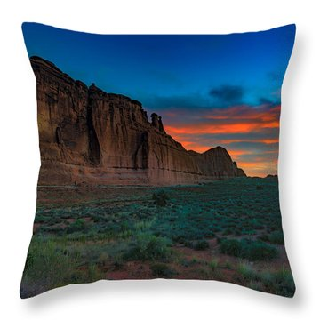 Fire In The Sky At The Tower Of Babel Throw Pillow