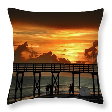 Fire In The Sky Throw Pillow by Bill Cannon