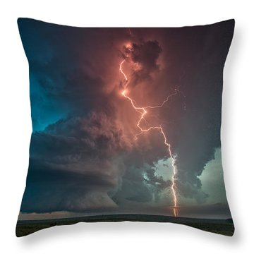 Fire In The Sky. Throw Pillow