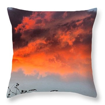 #fire In The #sky Over #texas. Hope Throw Pillow