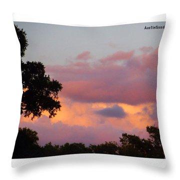 #fire In The #sky!  #keepaustinweird Throw Pillow