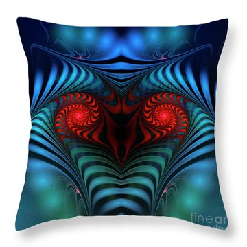 Throw Pillow featuring the digital art Fire Inside by Jutta Maria Pusl