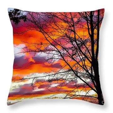 Fire Inthe Sky Throw Pillow