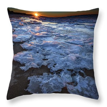 Fire Island Winter Throw Pillow by Rick Berk