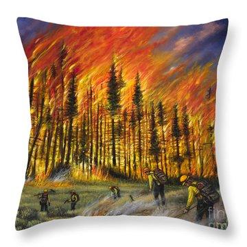 Fire Line 1 Throw Pillow