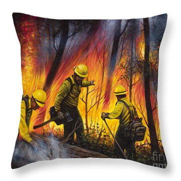 Fire Line 2 Throw Pillow