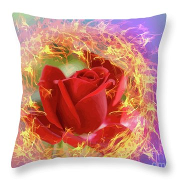 Fire Of Desire Throw Pillow
