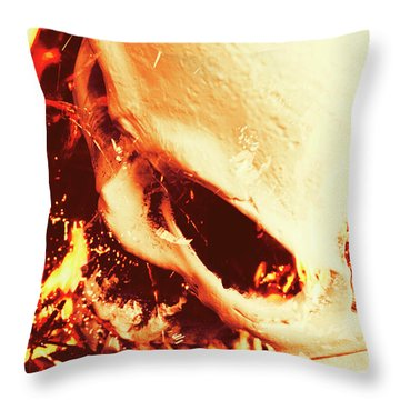 Fire Of Doom Throw Pillow