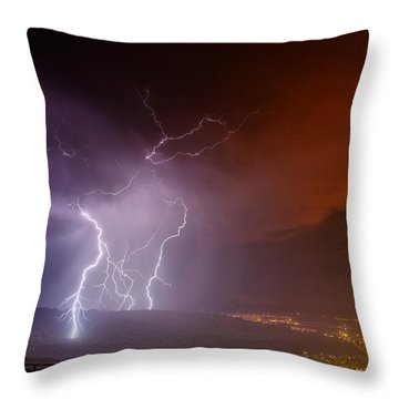 Fire On The Mountain Throw Pillow