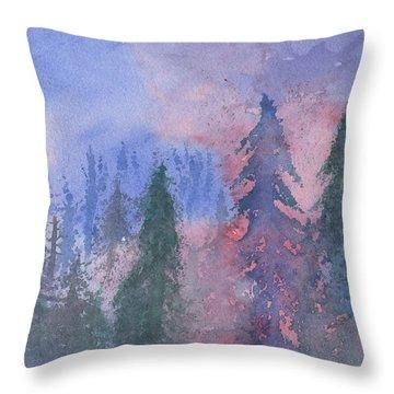 Fire On The Mountain Throw Pillow
