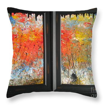 Fire On The Prairie Throw Pillow by Jacqueline Athmann
