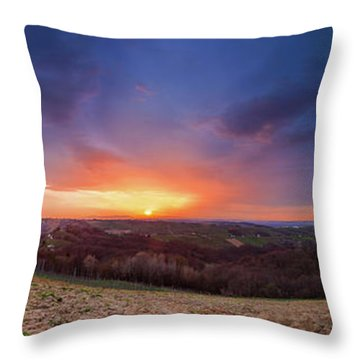 Fire On The West Side Throw Pillow