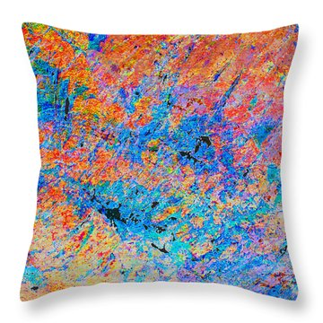 Fire Opal Throw Pillow