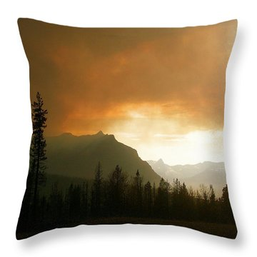 Fire Over St Mary Throw Pillow