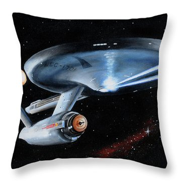 Fire Phasers Throw Pillow