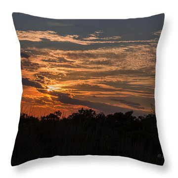 Fire Sky Sunset Throw Pillow