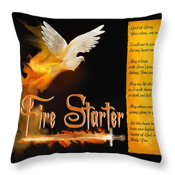 Fire Starter Poem Throw Pillow