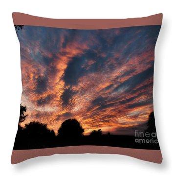 Fire Swept Sky  Throw Pillow
