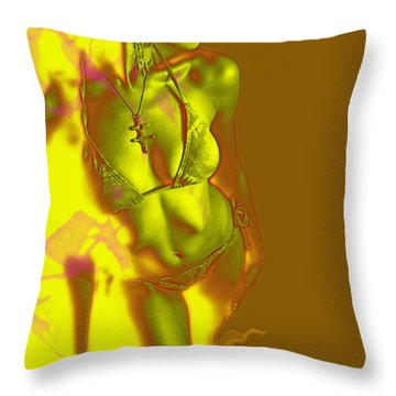 Fire Throw Pillow by Tbone Oliver